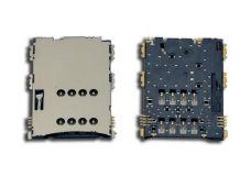 Считыватель (разъем) sim-карты для Samsung I5700/ I5800/ N8000/ N8010/ N8013/ P1000/ P3100/ P6200/ P7100/ P7300/ S5560/ S5570/ S5620/ S5628 original