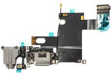 Шлейф Iphone 6 с разъемом зарядки, гарнитуры и микрофоном grey