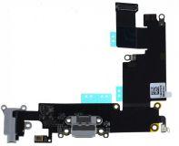 Шлейф Iphone 6 Plus с разъемом зарядки, гарнитуры и микрофоном grey